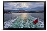 Arran Ferry Wake, Framed Print