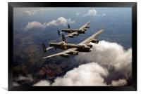 Birds of a feather: two Lancasters, Framed Print