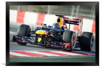 Mark Webber - RedBull RB8 2012, Framed Print