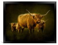Highlanders, Framed Print