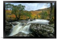Waterfall in the Scottish Highlands, Framed Print