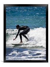 Catching The Waves, Framed Print