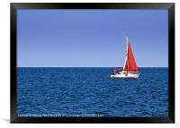 Yachting, Framed Print