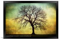 Digital Art Tree Silhouette, Framed Print
