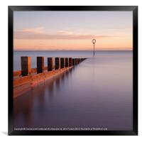 Portobello sea defences, Framed Print