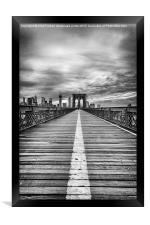 The road to tomorrow, Framed Print