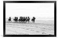 Horse Racing on Laytown Beach, Framed Print