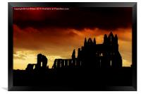 Whitby Abbey Silhouette, Framed Print