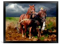 Plough Horses, Framed Print