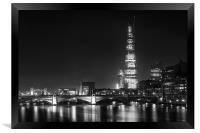 shard at night, Framed Print