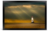 talacre storms, Framed Print