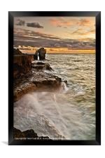 Sunset at the Rock, Framed Print