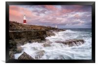 Stormy Sunset at Portland Bill, Framed Print