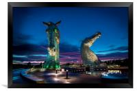 Sunset and the Kelpies , Framed Print