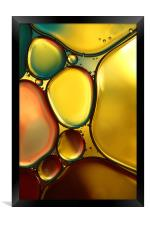 Oil & Water Abstract II, Framed Print