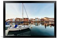 Weymouth Harbour at sunset, Framed Print