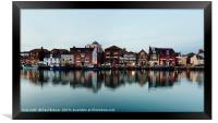 Weymouth Harbour in early evening, Framed Print