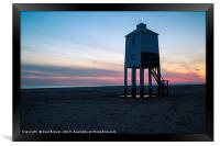 The Low Lighthouse Burnham on Sea, Framed Print