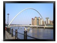 Newcastle Quayside in the Sun!, Framed Print