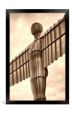 Angel of the North, Framed Print