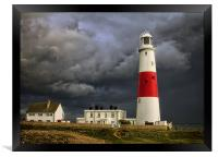 Stormy Weather at Portland Bill, Framed Print