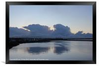 HEBRIDES STORNOWAY HARBOUR REFLECTION 1, Framed Print