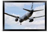 New Zealand Airlines Boeing 777, Framed Print