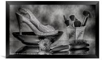 ALL ABOUT THE SHOES, Framed Print