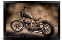 REGAL BOBBER PAINTING, Framed Print