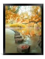Box Hill Stepping Stones, Framed Print