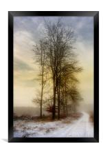 Christmas Eve in the Snow  3, Framed Print