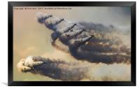 Red Arrows Storm, Framed Print