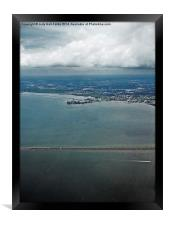 High Above Tampa Bay, Framed Print