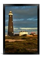 The Old Lighthouse at Dungeness, Framed Print