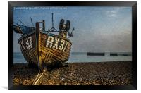 Hastings Fishing Boat, Framed Print