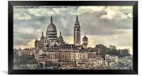 Across The Rooftops to Montmatre, Framed Print