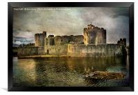 Caerphilly's Stronghold, Framed Print