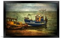 Launching from The Stade, Framed Print