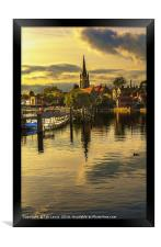 The River Thames At Marlow, Framed Print