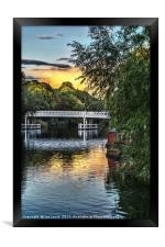 Above The Toll Bridge At Pangbourne, Framed Print