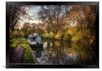 An Autumn Afternoon At Hungerford, Framed Print