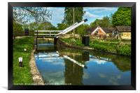 Aubreys Lift Bridge  At Thrupp, Framed Print