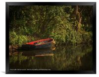 Dinghy On The Oxford Canal, Framed Print