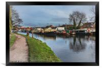 Boats On The Kennet, Framed Print