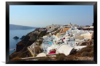 Oia and the Caldera, Santorini, Framed Print