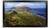 Macquarie Island and The Research Station, Framed Print