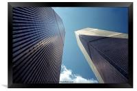 The Twin Towers - Homage To 9/11, Framed Print