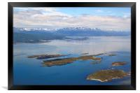 The Beagle Channel Aerial, Framed Print