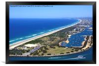 The Spit & Surfers Paradise Along the Gold Coast, Framed Print