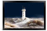 T`was on a night like this. (stormy sea), Framed Print